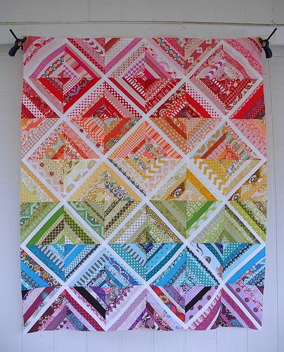 Scrappy String Quilt Top by jenniferworthen