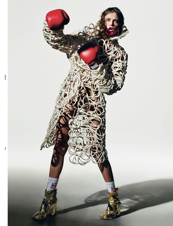 Spring Couture - Dazed & Confused, April 2012 - Vlada Roslyakova by Richard Burbridge and styling by Robbie Spencer