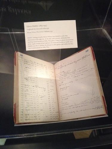 Edwin Hubble's logbook for 100-inch Mt. Wilson telescope