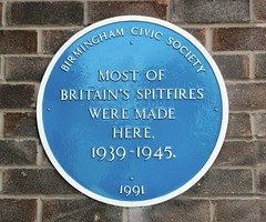 Photo of Britain's Spitfires blue plaque