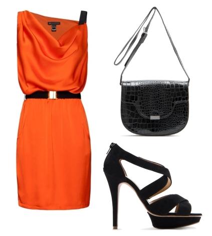 spring fashion orange tangerine dress