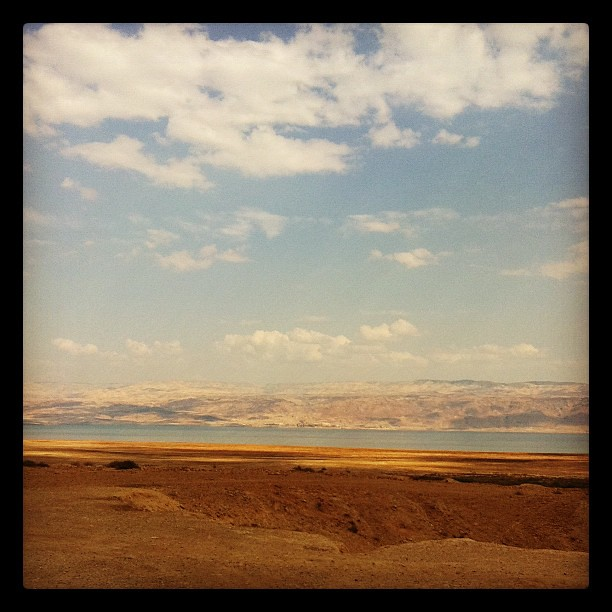Dead Sea with view of Jordan