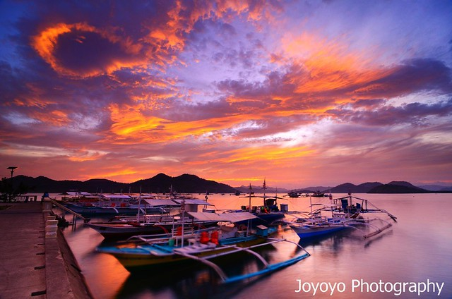 日落火燒雲 菲律賓科隆鎮 Sunset in Coron, Palawan Philippines