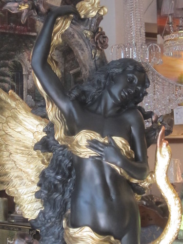 Black and Gold Angelic Figure