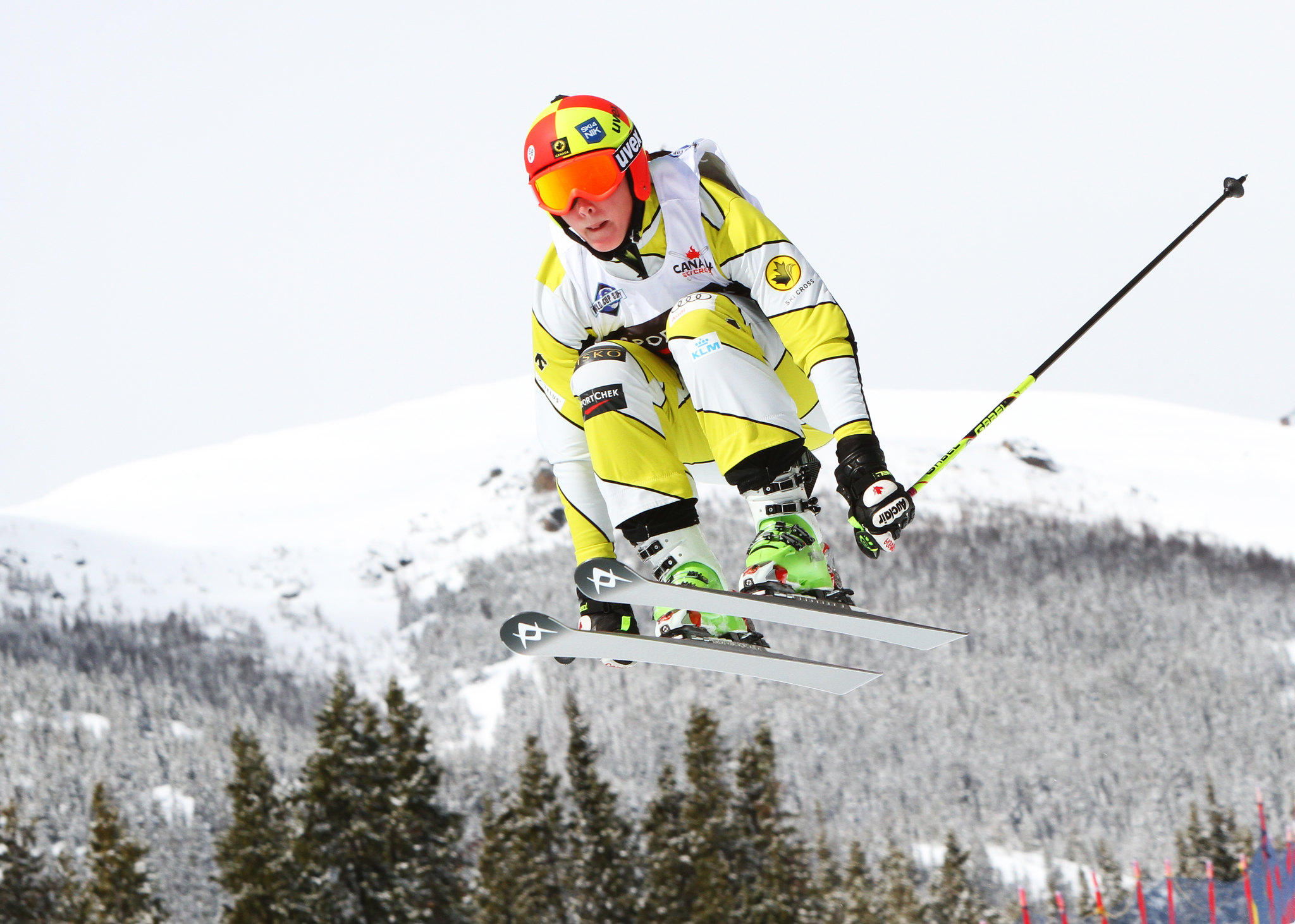 Marielle Thompson during qualifications for the Sport Chek Ski Cross Canadian Championships.