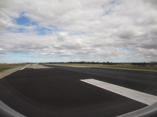 Turning onto the Runway