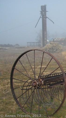 Old farm equipment in Carrizo Plain National Monument, California
