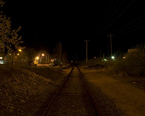 railroad black boston night dark downtown quiet shine slow main under maine tracks newhampshire railway nh line used transportation worn concord dilapidated