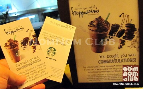 Starbucks Scratch Card