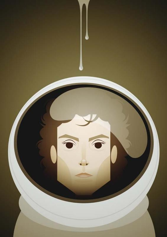 Face da Cultura Pop por Stanley Chow - alien