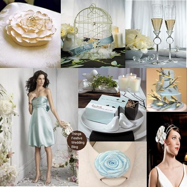 Sky Blue and Buff wedding theme