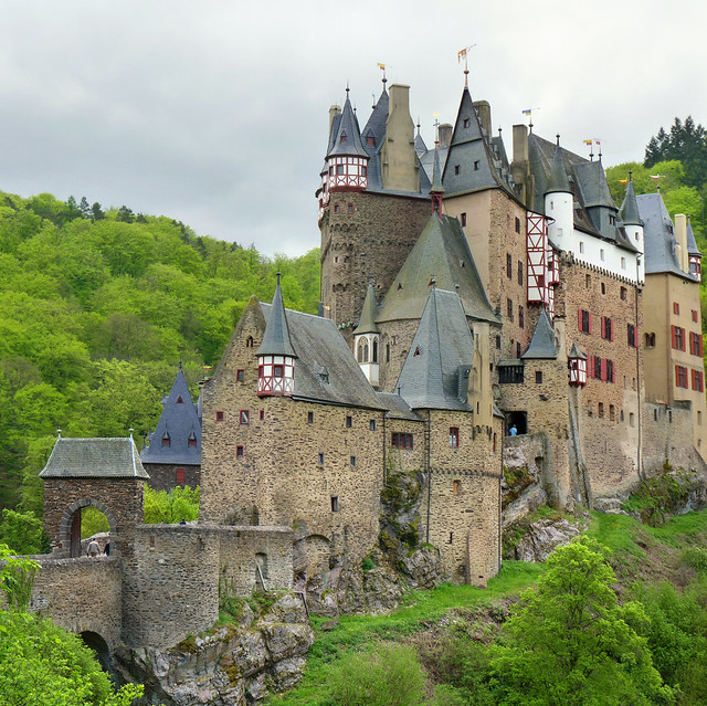 Entering the medieval castle Burg Eltz
