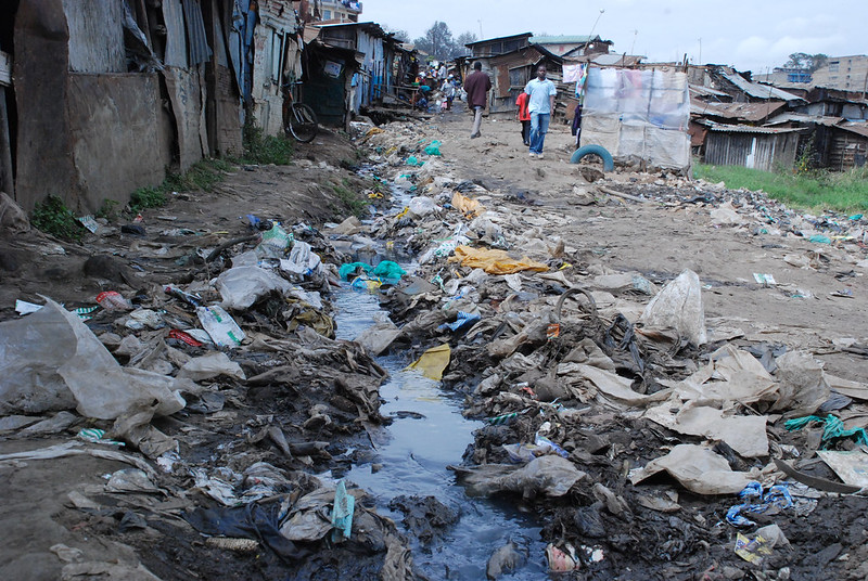 Mathare slum in Nairobi