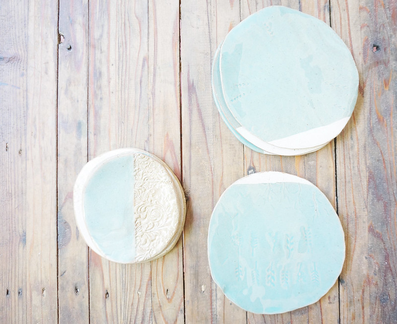 Stoneware plates by Mansy