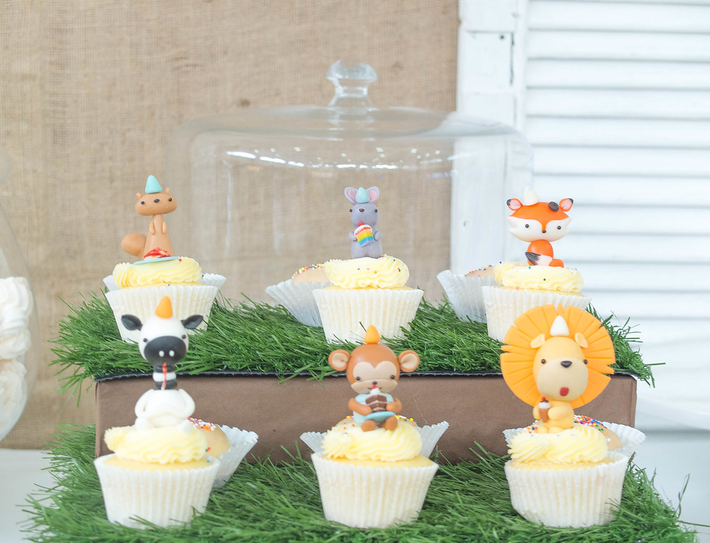 Party Animals on grass with delicious white chocolate covered puffins!