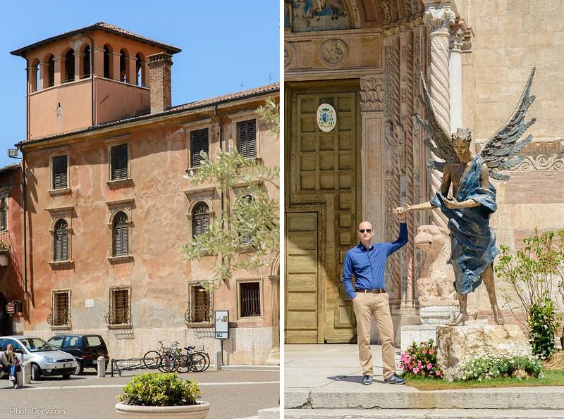 Piazza Duomo in Verona, Italy