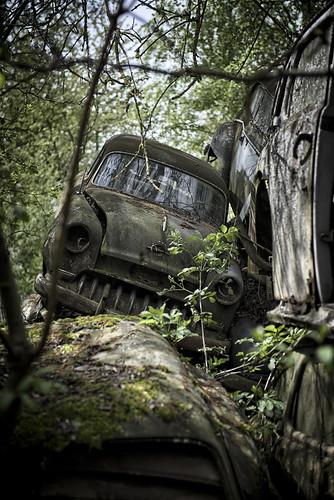 Car Graveyard Austria 04/2016  Poor thing ;-(