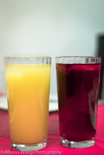 Ginger Juice and Bissap (Hibiscus Flower)
