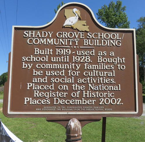 la louisiana schools shadygrove beauregardparish louisianahistoricalmarkers