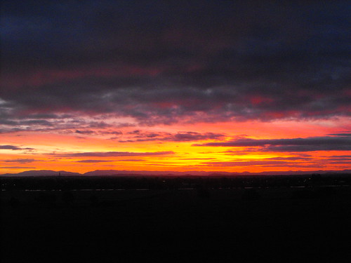 Sunset over the Clarence River Grafton NSW 2016-06-12