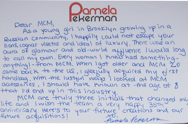 Pamela Peckerman note card