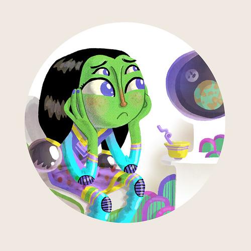 Alien Girl Spot 01