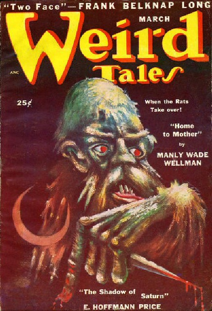 02a Weird Tales Mar-1950 Cover by Lee Brown Coye - Includes The Shadow of Saturn and Letter by E. Hoffmann Price from Flickr via Wylio