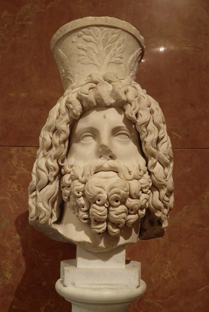 Head of Serapis, from Carthage, 3rd century AD, Louvre Museum