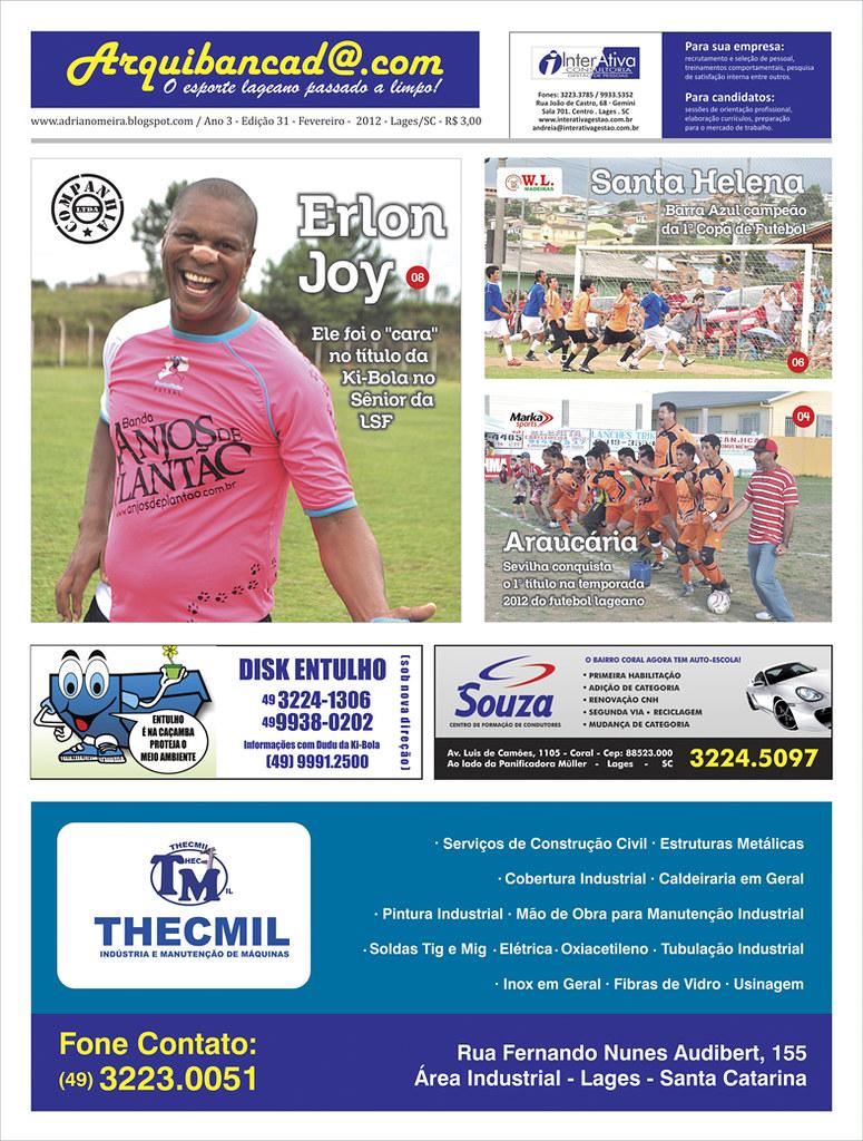 Jornal Arquibancada fevereiro 2012 - Edição nº 31