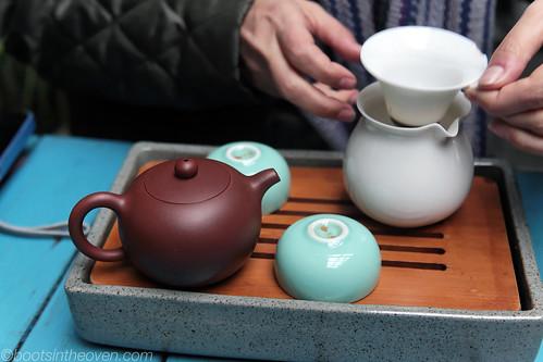 Tie Guan Yin oolong tea setup