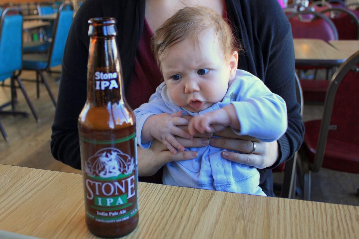 Baby B using Jedi mind tricks
