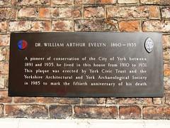 Photo of William Arthur Evelyn bronze plaque