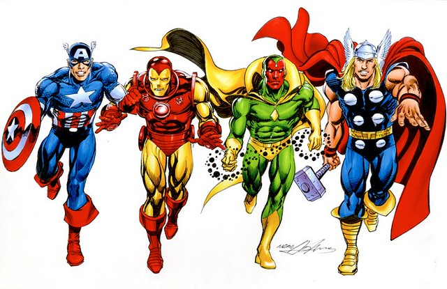 The Avengers illustration by Neal Adams