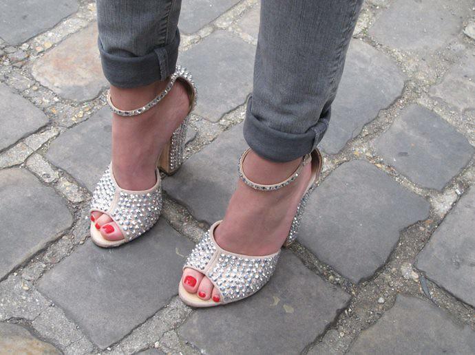 Giuseppe Zanotti + Rolled Up Jeans