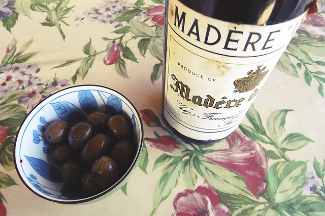 wine and olives