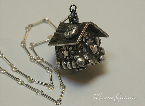 Fairy House Fine Silver Necklace