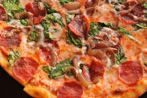 Pepperoni Pizza Pie Fabiani's Bakery and Pizzaria, Kihei, Maui Hawaii