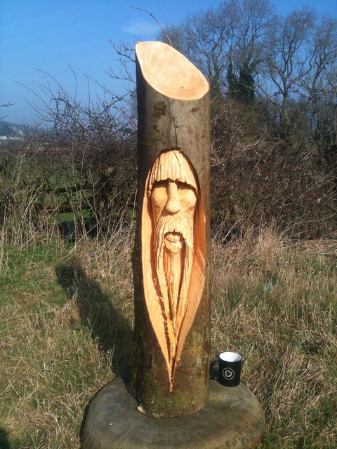 Tree wizard chainsaw carving flickr photo sharing