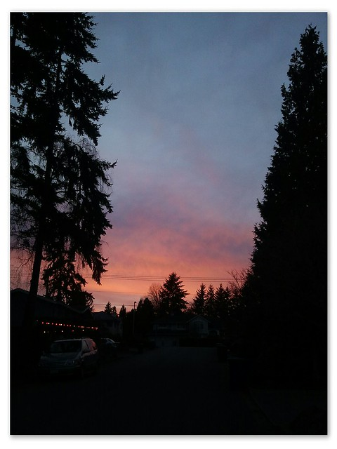 Sunset in Bellevue WA - 7 March