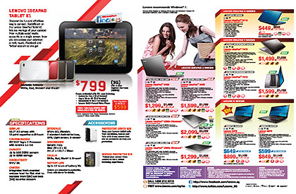 Click to view or download Lenovo's IT Show 2012 flyer for tablet computers.