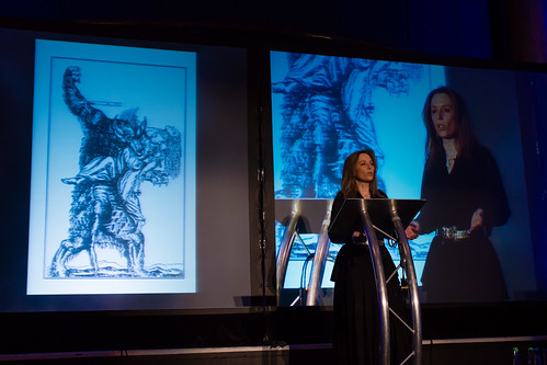 Deborah Hyde talking about werewolves at QEDCon