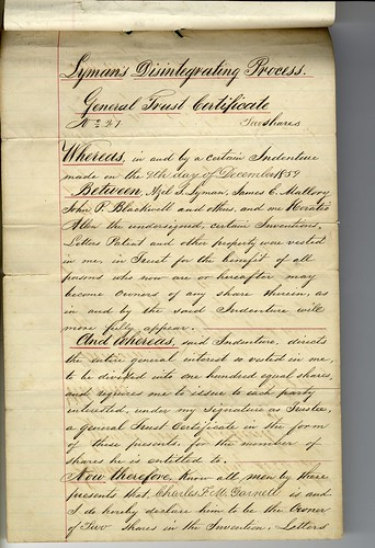 Patent - Confederate States of America (2 of 2)