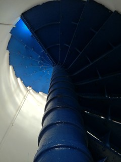 Image of Arecibo Lighthouse near Arecibo. blue lighthouse stairs spiral puertorico staircase aricebo