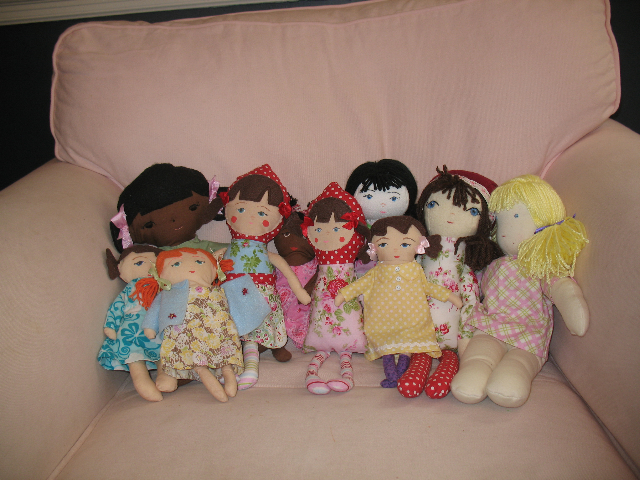 Anna's dolls for the drive