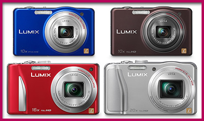Panasonic LUMIX DMC-SZ1, SZ7, TZ25 and TZ30 from the High Zoom series.
