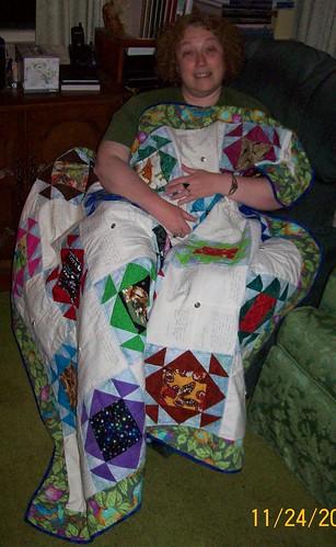 belinda ridgewood with quilt