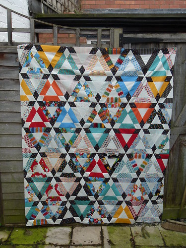 Hopscotch quilt top