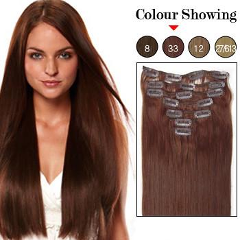 ... 20 inch 7pcs Dark Auburn  33 Remy Clip In Hair Extensions  103cd97b060c