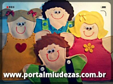 Fantoches Crianças by miudezas_miudezas
