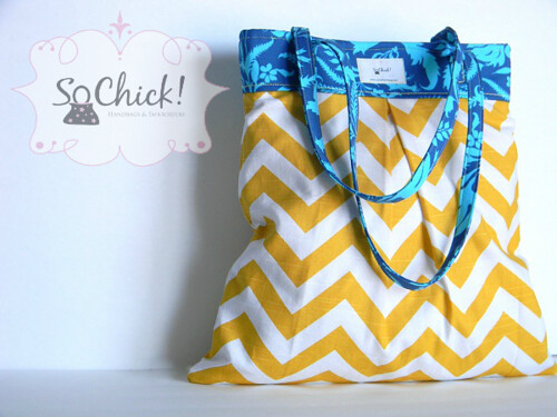 Cobalt Sunshine Pleated Tote